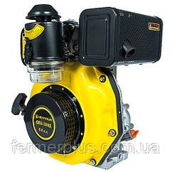 Дизельный двигатель Кентавр ДВУ-300Д (6,0 л.с., шпонка Ø25мм, L=72мм, ручной старт)