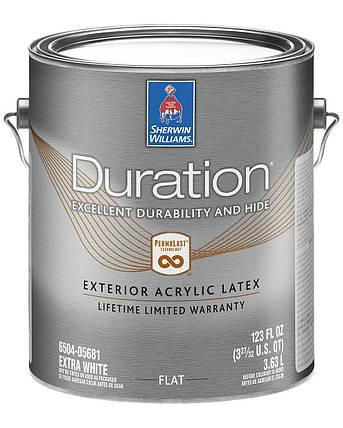 Краска Duration Exterio Flat Sherwin-Williams глубокоматовая фасадная экстра белая, 3,63л (дюрейшн), фото 2