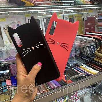 Чехол Кот для Samsung А750, черный