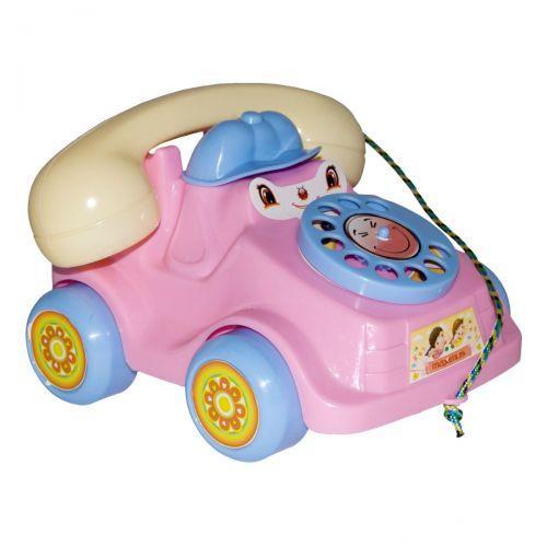 Каталка Телефон (маленький) розовый. 5105