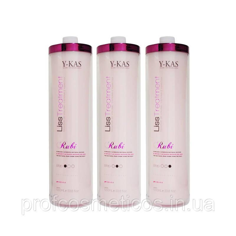 Состав для выпрямления волос YKAS Rubi Liss 2х 1000 мл