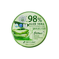 3W CLINIC Aloe Vera Soothing Gel 98% Универсальный увлажняющий гель с алое, 300 мл