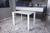 Стол BRISTOL S (Бристоль) 100/150х74 cm белый стекло Nicolas (бесплатная доставка), фото 2