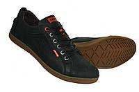 Кожаные спортивные туфли Levis Black, фото 1