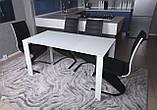 Стол BRISTOL S (Бристоль) 100/150х74 cm белый стекло Nicolas (бесплатная доставка), фото 6