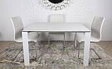 Стол BRISTOL S (Бристоль) 100/150х74 cm белый стекло Nicolas (бесплатная доставка), фото 7