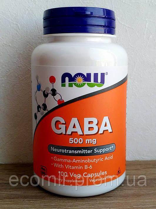 GABA (ГАМК), Now Foods (500 мг / 100 капсул)