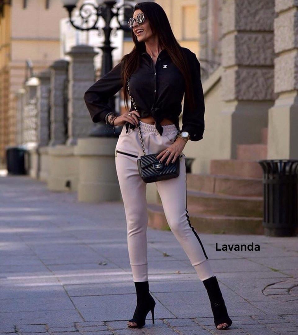 Женские модные брюки из трикотажа