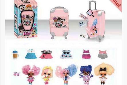 Кукла LOL чемодан Лол с волосами, фото 2
