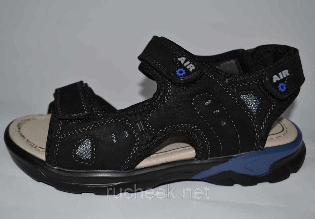 Кожаные босоножки сандалии для мальчиков р-ры  34, 35  реплика ЕССО,  ТМ EEBB 9077