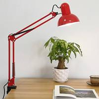 Лампа настольная МТ- 811 на струбцине , красная