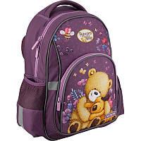 Рюкзак школьный Kite Education для девочек Popcorn the Bear 37,5x29x13 см 13,5 л Фиолетовый (PO19-518S)