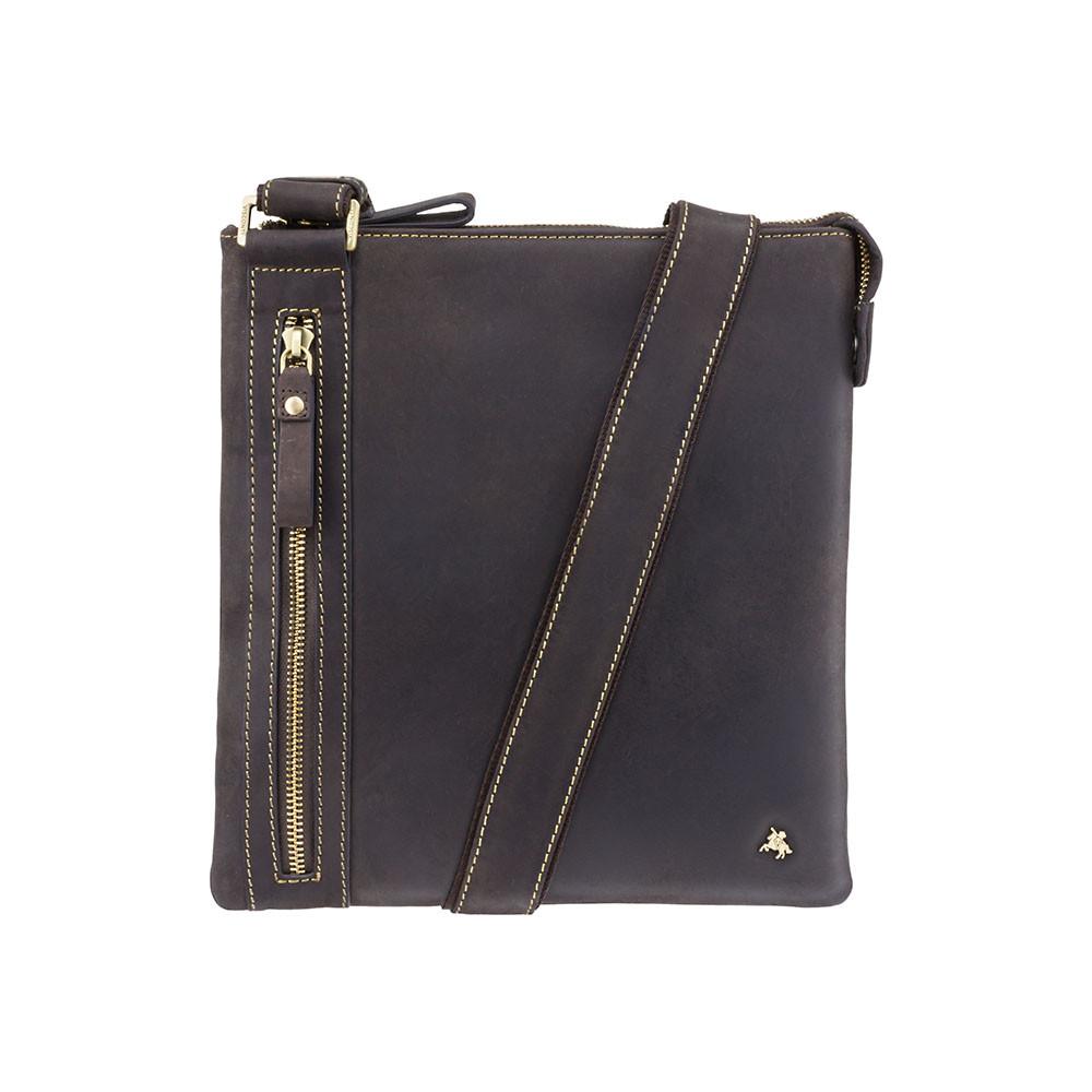 Мужская сумка через плечо Visconti 16111 Oil brown (Великобритания)