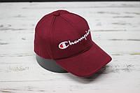 Кепка бейсболка Champion бордовая, фото 1