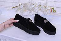 Туфли женские из натуральной замши на платформе 40 размер Astra Фиона 12