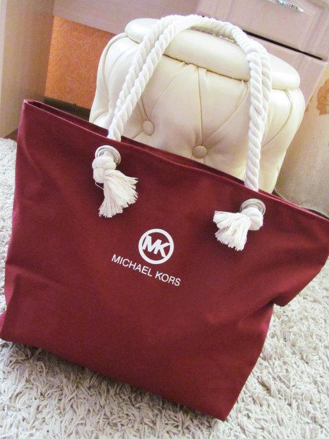 8a532750606f Пляжная сумка Michael Kors 2335 женская тканевая на канатах копия 43х30х10  см