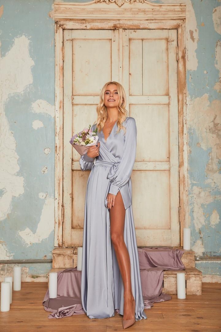 79cdf5e468e Шелковое вечернее платье на запах  продажа