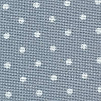 Ткань для вышивки Zweigart 3984/5269 Murano Lugana Petit Point 32 ct. Antique Blue&white dots