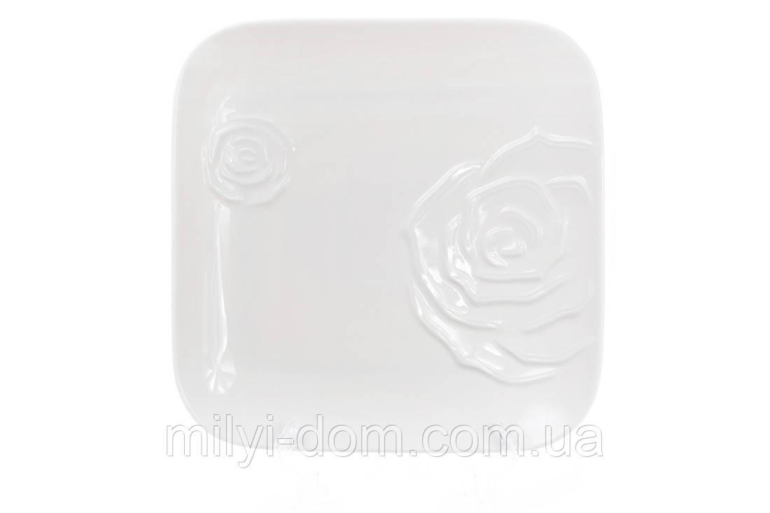 """Набор обеденных терелок """"Розы"""". фарфор. 3 шт, 25 см"""