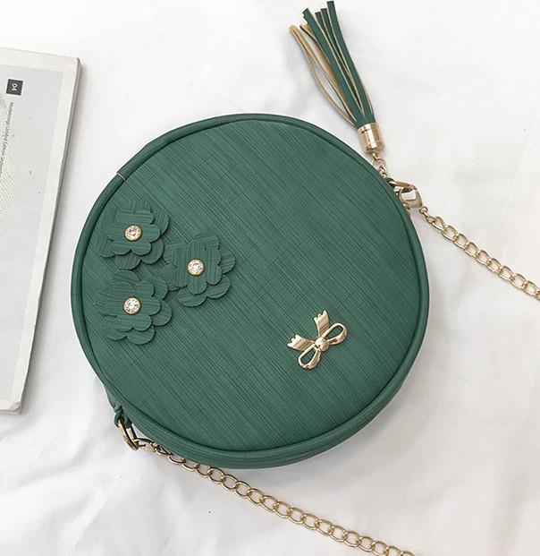 Женская сумочка круглая