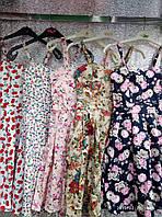 Женское платье сарафан лето с плотным лифом. Норма 44-46 принт