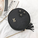 Женская сумочка круглая, фото 2