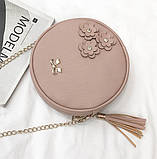 Женская сумочка круглая, фото 3