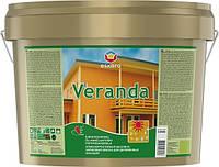 Eskaro Veranda, 9,5 л Масляно-акриловая водоразбавимая краска для дерева арт. 4740381000430 Белая