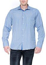 Мужская рубашка Gelix 1207001 в клетку синяя