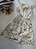 Женское платье сарафан лето. Норма 44-46 Сакура на белом