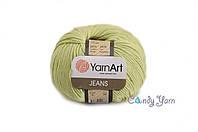 YarnArt Jeans, светло салатовый №11