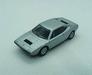 Модель Ferrari micro cars Dino 308 GT4 в масштабе 1:100 (серебристый)