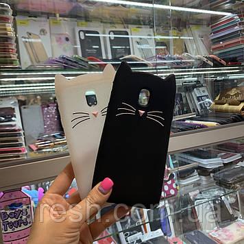 Чехол Кот для Samsung J330, черный