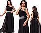 Выпускное платье в пол со стразами (красный) 828355, фото 4