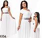 Выпускное платье в пол со стразами (красный) 828355, фото 5