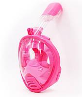 Дитяча маска для сноркелінгу TheNice K-1 EasyBreath-III на все обличчя для дайвінгу XS Рожевий  (SUN3737)