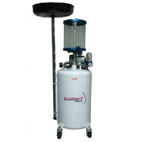 Установка для зливу і відкачування масла з пневмонасосом і мірною колбою (80л.) G. I. KRAFT HD-855