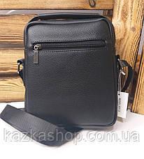 Мужская сумка Polo черного цвета на один отдел, без клапана, два ремешка, несъемный регулируемый ремень, фото 3