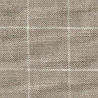 Ткань для вышивки Zweigart 7666/3709 Belfast 28 ct.140 см. Натуральный в белую клетку