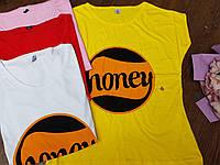 Футболка женская оптом. s,m,l,xl, Honey
