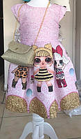 Платье подкладка хб + фатин для девочек от 4 до 7 лет