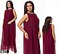 Вечернее платье без рукавов из шифона (электрик) 828349, фото 4