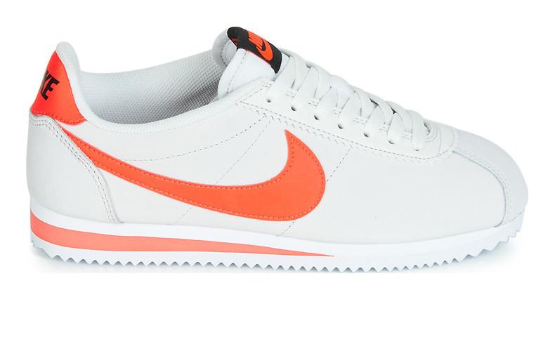 0e05e2e0 Оригинальные кроссовки Nike Classic Cortez Leather White/Orange (ART.  807471 018)
