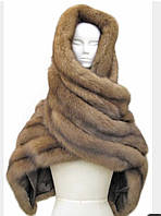 Меховой шарф, палантин из куницы, соболя