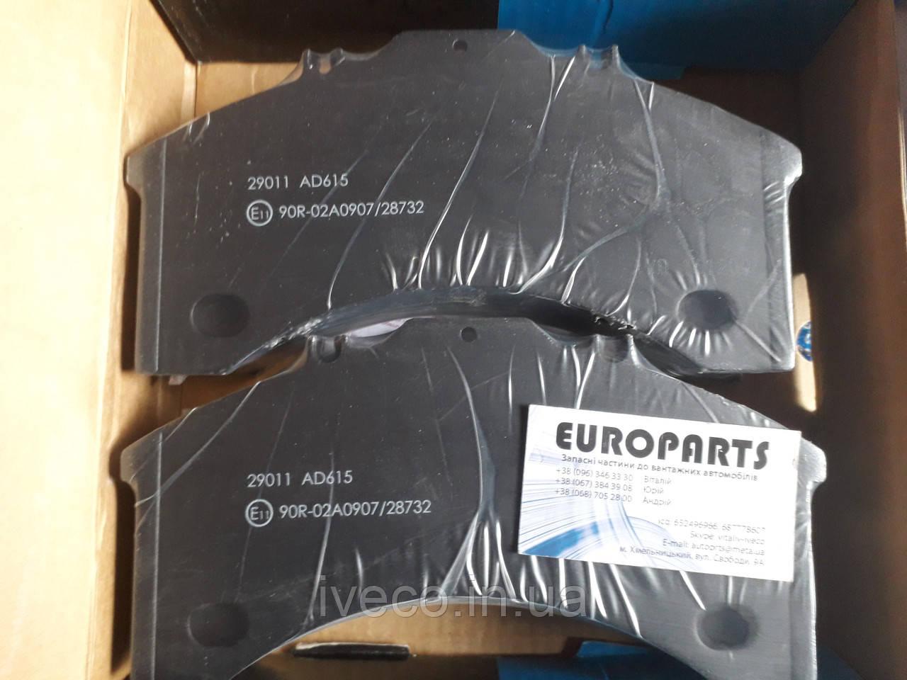 1906191 2992479 29011 колодки тормозные суппорта Bendix Ивеко Евротех Евростар Iveco Eurotech Eurostar