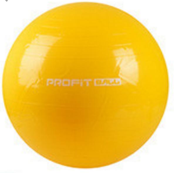 MS 0382 Мяч для фитнеса (фитбол) Profi 65см- Желтый