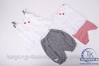 Костюм для девочки футболка с шортиками х/б рост с 80 по 92 033