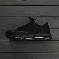 466c22bf Мужские кроссовки Nike Air Max 2016 triple black. Живое фото. Топ качество!  (