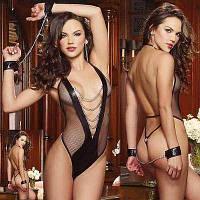 Сексуальный бодик с наручниками, фото 1