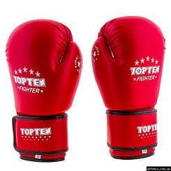 Перчатки боксерские TopTen DX  Красный, 12